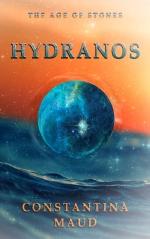 blue sea orange sunset sphere book cover fantasy hydranos