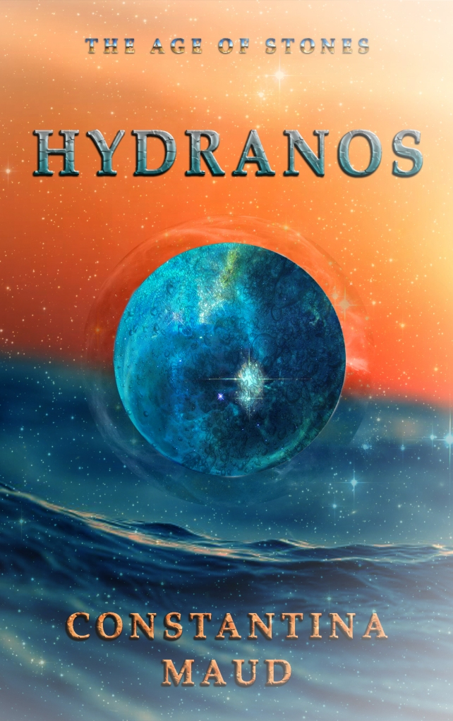 Hydranos fantasy book cover The Age of Stones by Constantina Maud