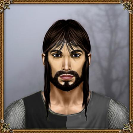 Agathon hydranos fantasy avatar character portrait grey mist forest