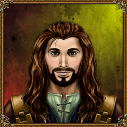 Adeimos hydranos fantasy avatar character portrait green and brown colors