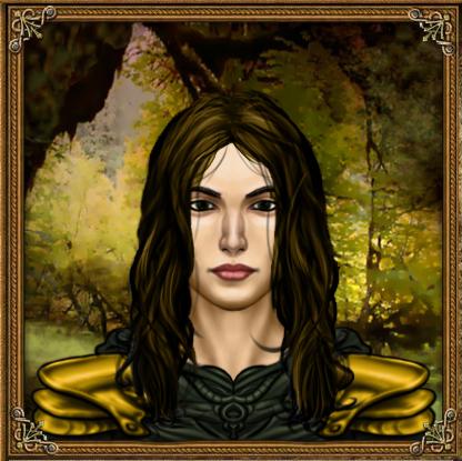 Drynoe hydranos fantasy avatar female warrior character portrait green oak forest