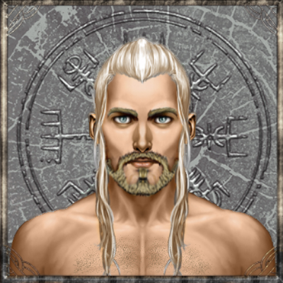 Aerian hydranos fantasy avatar nation portrait grey background