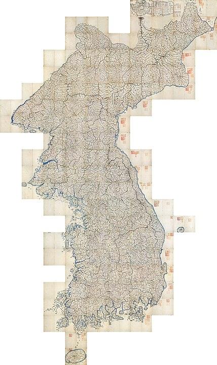 Daedongyeojido full map