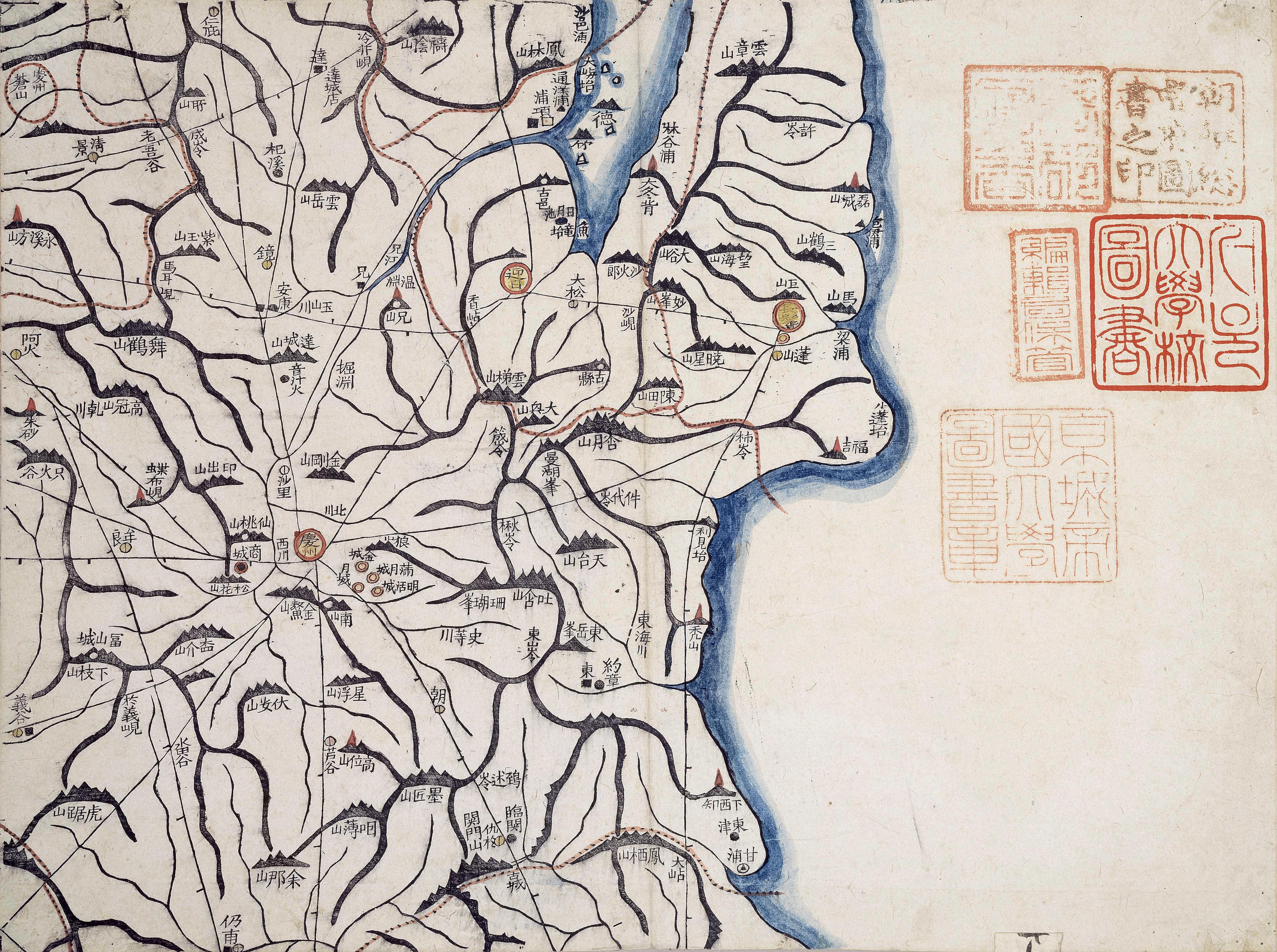 Daedongyeojido map detail - Gyujanggak
