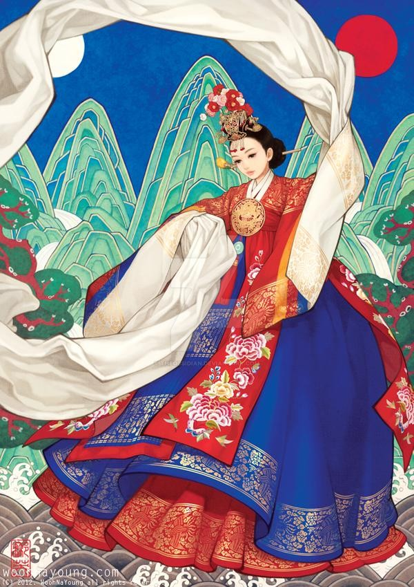 coronet_dance_queen_in_hanbok_by_Wooh Na-young