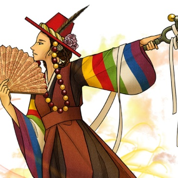 shaman-abandoned-princess-bari-korean-traditional-costume-fan-bells