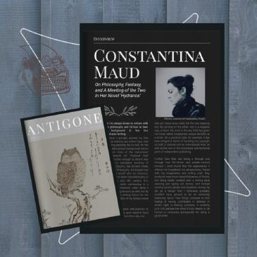 Fantasy Author Constantina Maud interview Antigone Zine Summer Issue