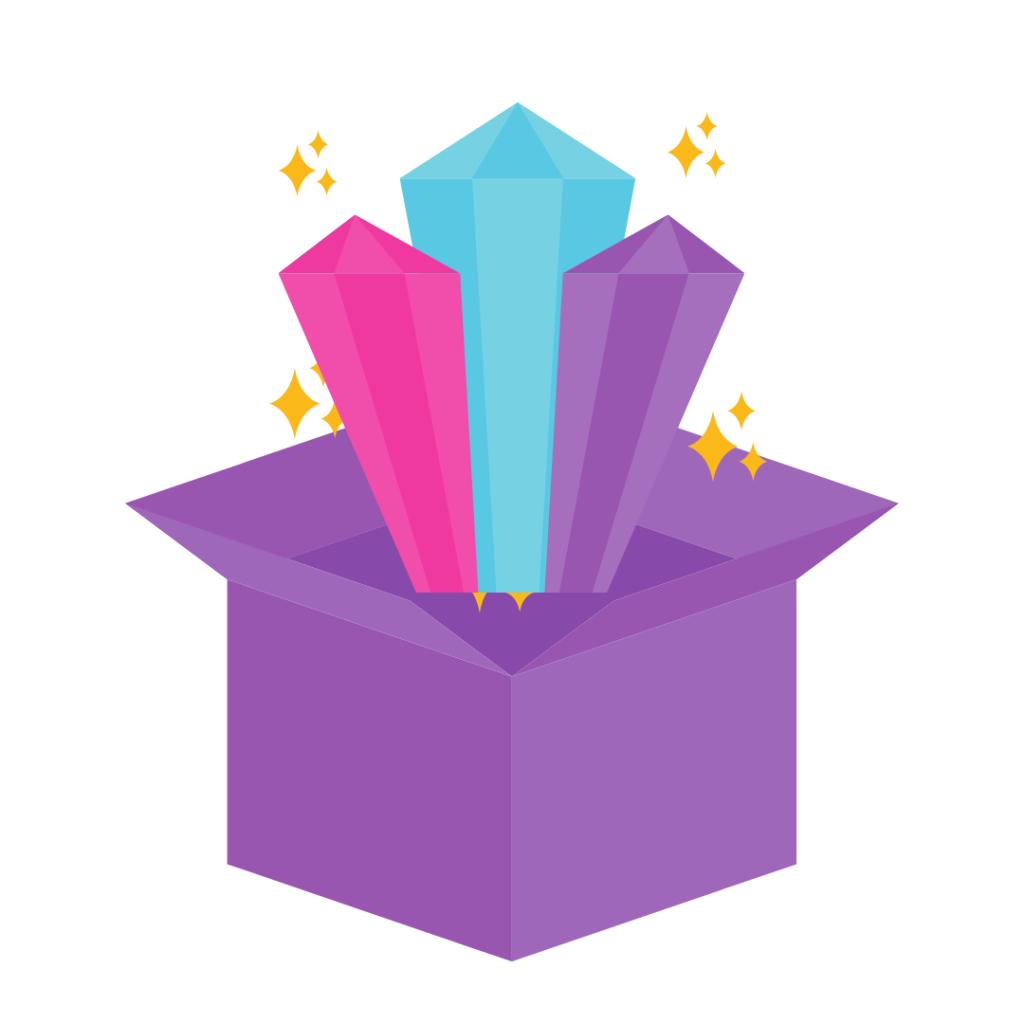 magic box with precious stones